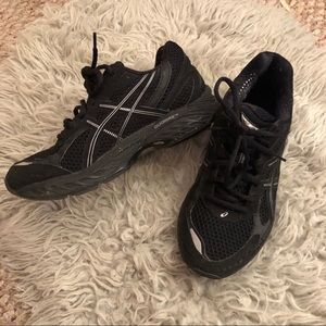 ASICS black shoes size 6.5